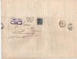 Laffetay & Harang - Caen 1895 - Perforé LH Sur Sage - Négoce Vin Pommerol Algérie & Café Haïti Mexique Inde - 3 Scans - Perfins