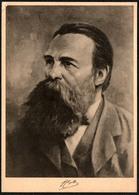D3945 - Hans Seckelmann  Künstlerkarte - Friedrich Engels - VEB Volkskunstverlag Reichenbach - Historical Famous People