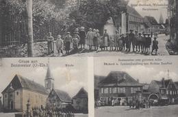 CPA - BENNWEIER - BENNWIHR - ALSACE - CARTE GRUSS 3 VUES - ANIMÉE - Autres Communes
