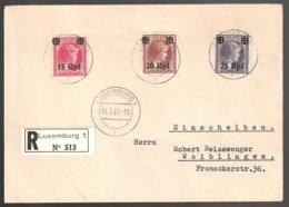 Luxemburg Beleg - Besetzungen 1938-45
