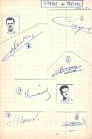 Collection 'autographes Des Footballeurs De Football Stade De Reims Années 60 61 Dédicaces Avec Numéros En Face - Autografi