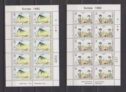 1982 Europa-CEPT Gibraltar Mi 451-452 Sheets MNH - Europa-CEPT