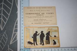 Chromos Comprimés De Vichy Ombre Silhouette En Tournée électorale Couple Fermier Enfant Cochon - Kaufmanns- Und Zigarettenbilder