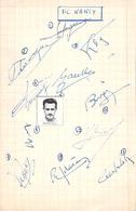 Collection 'autographes Footballeurs De Football F C Nancy Années 60  Dédicaces Avec Numéros En Face - Authographs