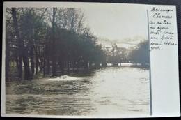 25 - BESANCON -  Les Innondations De 1910 CHAMARS  - Carte Photo - Innondation - Doubs - Besancon