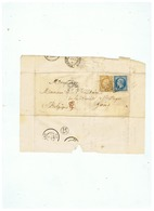 LETTRE SOCIETE CHARITABLE St FRANCOIS - REGIS DEPART LILLE Pour  GAND BELGIQUE 1866 - Marcophilie (Lettres)