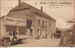RPCP : Athus- Aubange- Luxembourg Cafe Du Commerce.  Longton-Zigrand. Rue Arend. Attelage - Lieux