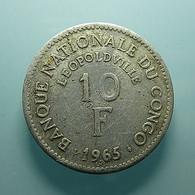 Congo 10 Francs 1965 - Congo (Repubblica 1960)