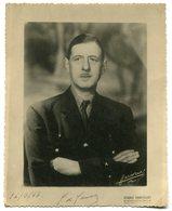 Photographie Général De Gaulle Harcourt 1947 - Guerra, Militares