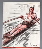 (sport: Aviron) Publicité Médicale CARBOTRIGON Illustré Paul, Ordner.1937 (PPP11693) - Advertising