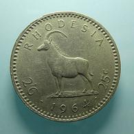 Rhodesia 25 Cents 1964 - Rhodesia