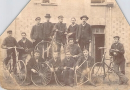 PHOTO ANCIENNE 19 EME OUVRIERS DE LA FABRIQUE DE CYCLES JEUBERT A SENS VELOS - Cyclisme