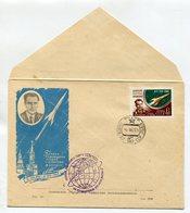"SPACE COVER USSR 1962 ANNIVERSARY OF THE SPACESHIP ""VOSTOK-2"" FLIGHT COSMONAUT GERMAN TITOV LVIV Kra - Russia & USSR"