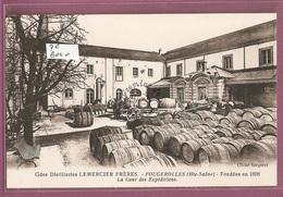 Cp Fougerolles Grandes Distilleries Lemercier Frères Fondées En 1808 - La Cour Des Expeditions Bergeret - France