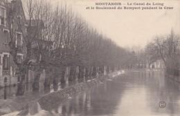Montargis : Le Canal Du Loing Et Le Boulevard Du Rempart Pendant La Crue - Montargis