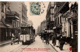 Paris : Série '' Tout Paris '' N° 1603  Rue D Belleville  XX Art - Francia