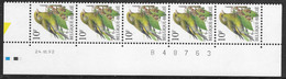 Buzin. 2461xx Groenling/Verdier. Datumstrook 24/07/92 Bande Datée. Diepdrukplaat Nr B48763 - Onpaar/impair - 1985-.. Birds (Buzin)