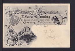 """1898 - 5 Pf. Privat Ganzsache Alpenverein - Bild """"Wanderutensilien"""" - Gebraucht - Escalade"""
