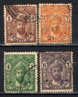 ZANZIBAR - 1926 - SULTANO KHALIFA BIN HARUB - SCRITTA CENTS CON GRAZIE - USATI - Zanzibar (...-1963)