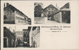 AK/CP Mainbernheim  Schützenhof Bräu  Brauerei  Kitzingen  Iphofen    Gel/circ . 1937   Erhaltung/Cond. 2  Nr. 00982 - Kitzingen