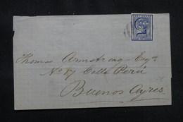 URUGUAY - Lettre De Montevideo Pour Buenos Aires, Affranchissement Plaisant - L 54344 - Uruguay