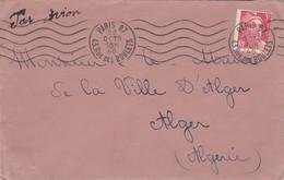 Yvert 716 Gandon Seul Sur Lettre Par Avion  Cachet Flamme PARIS 87 Du 22/10/1946 à Maire Alger Algérie - Lettres & Documents