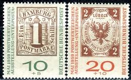 BRD - Mi 310b / 311b - ** Postfrisch (B) - 10+5-20+10Pf               INTERPOSTA - Unused Stamps