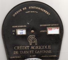 (Tarn Et Garonne 82) Disque De Stationnement CREDIT AGRICOLE  (PPP11695) - Reclame