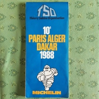 RALLYE . DAKAR 1988 . 10e PARIS ALGER DAKAR . CARTE MICHELIN - Wegenkaarten
