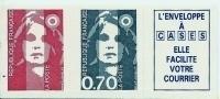 """FR YT 2824b Paire Vignette """" Briat SV + 70c Adhésif """" 1993 Neuf** - 1989-96 Marianne Du Bicentenaire"""