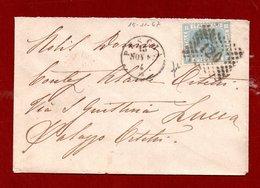 1867 - TOSCANA  ANNULLO PESCIA  + PUNTI SU 20c. - Bustina PER LA CONTESSA ALAIDE ORSETTI PALAZZO ORSETTI LUCCA - Non Classés