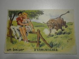 69 Armentières. Illustrateur Chap. Un Baiser D'Armentières (8660) - Armentieres