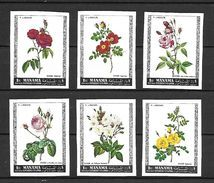 Manama 1969 Flowers- Roses Imperforate MNH (T0888A) - Manama