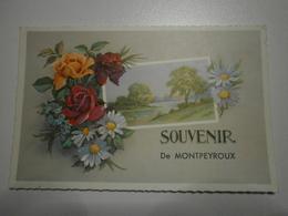 34 Montpeyroux. Lot De 2 Cartes. Un Bonjour / Souvenir (8663) - France