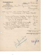 CHARLES FIGILLE - ANVERS - MANIPULATIONS EXPLOSIFS -DYNAMITE DE MATAGNE - DEDOUANEMENT - EXPEDITIONS - 22 FEVRIER 1925. - Transports