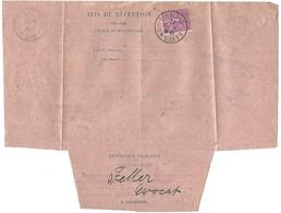 Avis De Réception SAVERNE 7.10.1927 - Semeuse Lignée 75c - Postmark Collection (Covers)