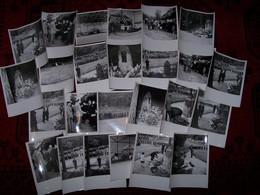 Lot De Photographies Ancienne Militaire Commémoration Pilotes Et Observateurs D'artillerie Tombes En 1954 .. - Otros
