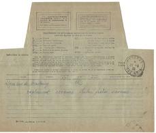 Télégramme SAVERNE 23.6.1933 Avec étoile à La Place De L'heure Dans Le Bloc Dateur - Postmark Collection (Covers)