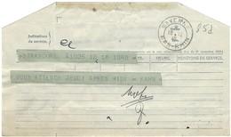 Télégramme SAVERNE 18.12.1946 Avec étoile à La Place De L'heure Dans Le Bloc Dateur - Postmark Collection (Covers)