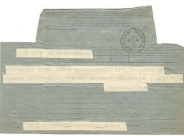Télégramme SAVERNE 23.12.1947 Avec étoile à La Place De L'heure Dans Le Bloc Dateur - Postmark Collection (Covers)