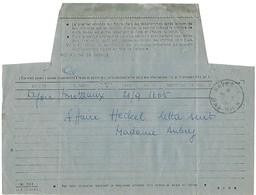 Télégramme SAVERNE 20.9.1954 Avec étoile à La Place De L'heure Dans Le Bloc Dateur - Marcophilie (Lettres)