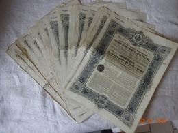 LOT DE 40 EMPRUNTS RUSSES 5 % 1906. OBLIGATIONS DE 187 ROUBLES, CINQUANTE COPECS. - Russie