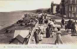 CPA VILLERS SUR MER - CALVADOS - LES PLANCHES - ATTELAGE - Villers Sur Mer