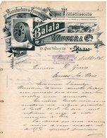 MANUFACTURE DE COURROIES BALATA - WANNER AND CIE - PARIS - BRUXELLES - 05 JUILLET 1892. - France