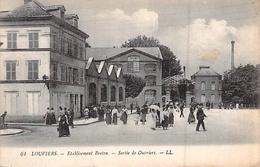 C P A  27] Eure LOUVIERS ETABLISSEMENT USINE BRETON SORTIE DES OUVRIERS LL - Louviers