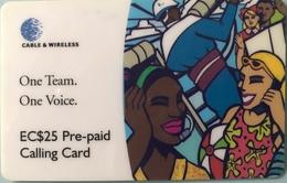 St. VINCENT § LES GRENADINES  -  Prepaid -  Cable %  Wireless  - Indian Bay -  EC$25 - St. Vincent & The Grenadines