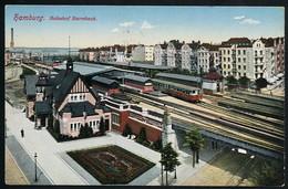 AK/CP Hamburg Barmbek  Bahnhof Gel./circ. 1913   Erhaltung/Cond. 2  Nr. 00997 - Nord