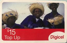 St. VINCENT § LES GRENADINES  -  Prepaid - Digicel - $15 - St. Vincent & The Grenadines