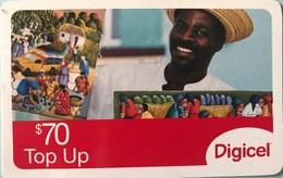 St. VINCENT § LES GRENADINES  -  Prepaid - Digicel - $70 - St. Vincent & The Grenadines