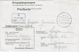 Kriegsgefangenenpost - GOURDIN Grégoire - Stalag XI B Du 12-3-41 à LONZEE (Gembloux) + Censure (Texte Noirci) - Guerre 40-45